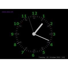 Šetrič obrazovky - hodiny