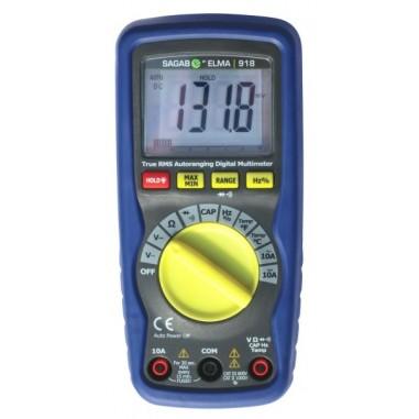 Modrý Multimeter 918 - True RMS s...