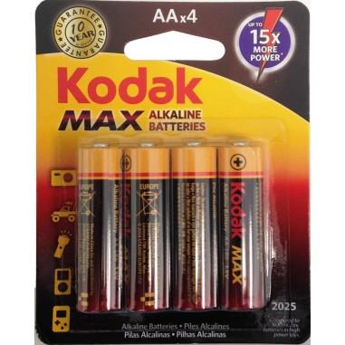 Alkalické batérie KODAK MAX balenie 4xAA