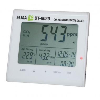 ELMA DT-802D záznamník CO2, teploty a...