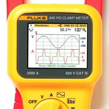 Fluke 345 - Kliešťový merač kvality elektrickej energie