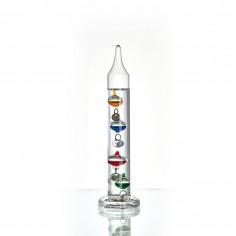 TFA 18.1010.01 - Galileiho teplomer malý so 4 štítkami farby striebra