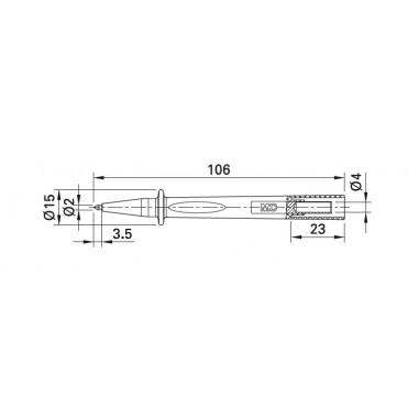 MC Stäubli BT400 - tenká, 2 mm sonda