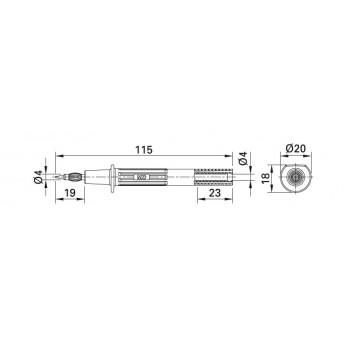 MC Stäubli PP-115/4 - sonda