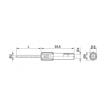 MC Stäubli ZPS-20/40 - 40 mm dlhý,  okrúhly pin