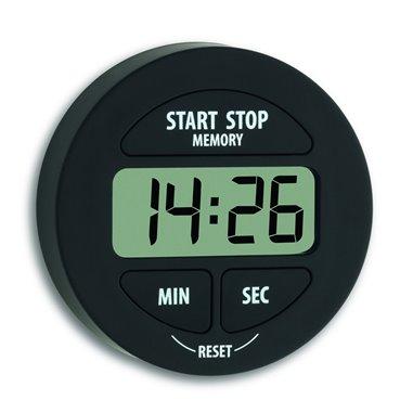 TFA 38.2022.01 digitálny časovač a stopky čierne