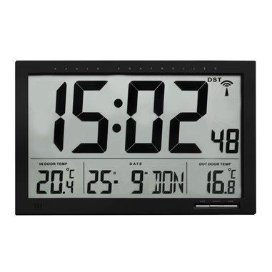 TFA 60.4510.01 Rádiom riadené hodiny s vonkajšou teplotou 370x230 mm