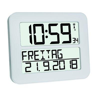 TFA 60.4512.02 'Time Line MAX' Rádiom riadené hodiny na stenu 258x212 mm