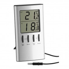TFA 30.1027 - digital indoor-outdoor thermometer with long probe