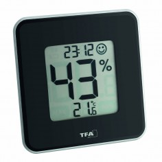 TFA 30.5021.01 Style - digital thermo-hygrometer with clock (black)
