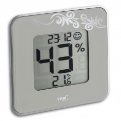 TFA 30.5021.02 Style - digital thermo-hygrometer with clock (white)