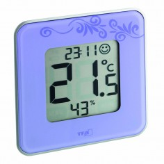 TFA 30.5021.11 Style - digital thermo-hygrometer with clock (lilac)