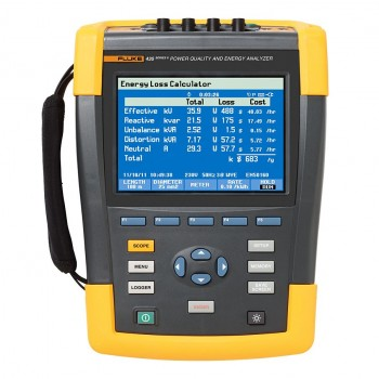 Power quality and energy analysers