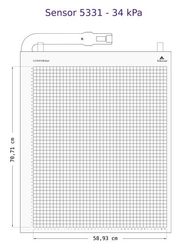 Tekscan CONFORMat senzor 5331